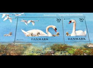 Dänemark 2019 Block 72 Europaausgabe Einheimische Vogelarten Schwäne