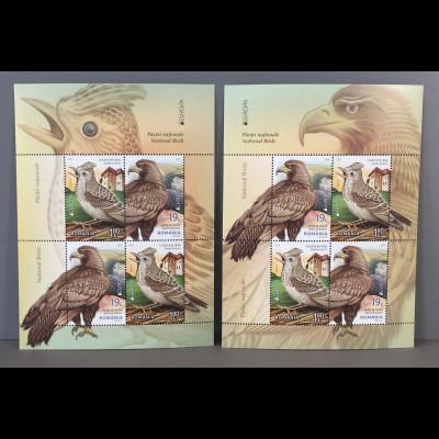 Rumänien 2019 Neuheit Europaausgabe Einheimische Vogelarten Ornithologie Block