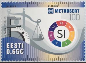 Estland EESTI 2019 Nr. 957 100 Jahre Metrosert Nationales Metrologieinstitut