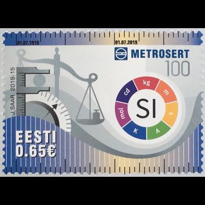 Estland EESTI 2019 Neuheit 100 Jahre Metrosert Nationales Metrologieinstitut