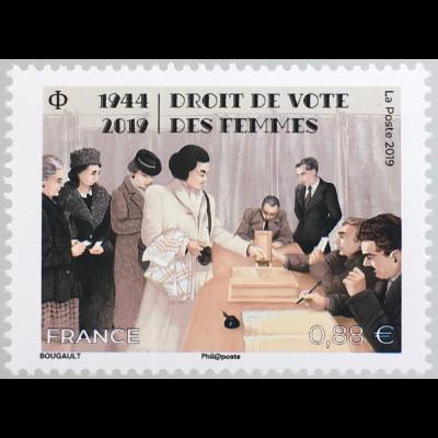 Frankreich France 2019 Neuheit Frauenwahlrecht Gleichheit Emanzipation Humanität