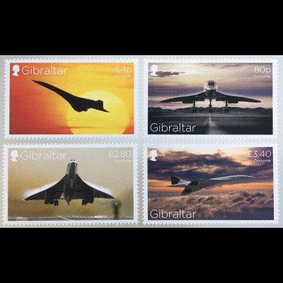 Gibraltar 2019 Neuheit Concorde Flugverkehr Flugzeug Passagierflugzeug