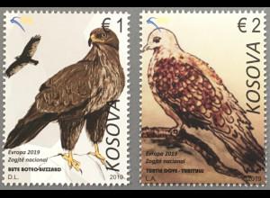 Kosovo 2019 Neuheit Einheimische Vogelarten Europaausgabe Ornithologie