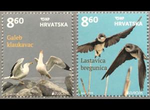 Kroatien Croatia 2019 Neuheit Europaausgabe Einheimische Vogelarten Möwe