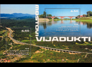 Kroatien Croatia 2019 Neuheit Brücken und Viadukte Überführungen