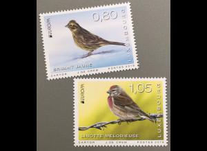 Luxemburg 2019 Neuheit Europaausgabe Einheimische Vogelarten Bluthänfling
