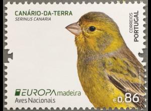 Madeira 2019 Neuheit Europaausgabe Einheimische Vogelarten Kanarienvogel