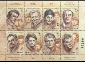 Serbien Serbia 2019 Nr. 859-66 Berühmte Schauspiieler Serbiens