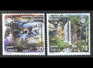Serbien Serbia 2018 Nr. 800-801 Europäischer Naturschutz Umwelt Ökologie