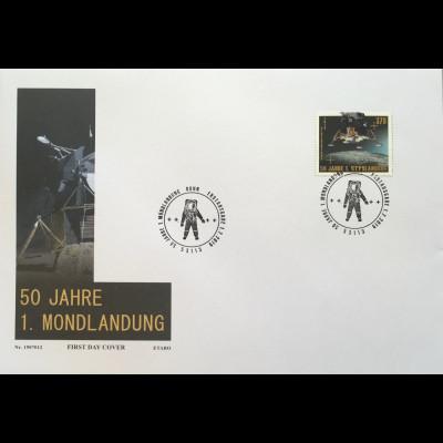 Bund BRD Ersttagsbrief FDC 1. Juli 2019 Neuheit 50 Jahre erste Mondlandung