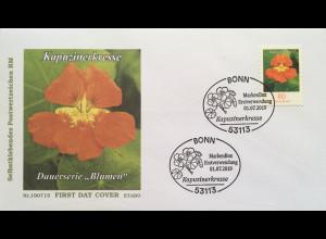 Bund BRD Ersttagsbrief FDC 1. Juli 2019 Neuheit Kapuzinerkresse Dauerserie Flora