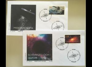 Bund BRD Ersttagsbrief FDC 1. Juli 2019 Neuheit Astrophysik MIssion Rosetta