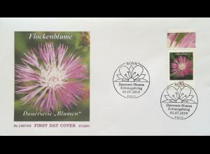 Bund BRD Ersttagsbrief FDC 1. Juli 2019 Nr. 3470 Flockenblume Dauerserie Flora