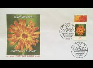 Bund BRD Ersttagsbrief FDC 1. Juli 2019 Nr. 3475 Habichtskraut Dauerserie Flora