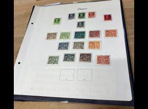 Briefmarkensammlung: Bayern, Deutsches Reich, AM-Zone, Bund und Berlin