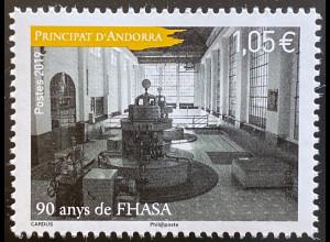 Andorra französisch 2019 Nr. 851 90 Jahre FHASA Wirtschaft und Politik