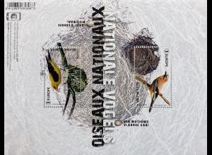 Belgien 2019 Block 239 Europaausgabe Heimische Vogelarten Ornithologie Fink