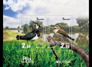 Bosnien Herzegowina 2019 Block 67 Einheimische Vogelarten Europaausgabe