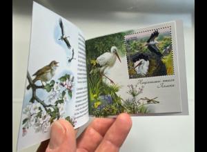 Ukraine 2019 Neuheit Europaausgabe Einheimische Vogelarten Birds Uccello MH