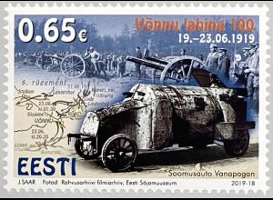 Estland EESTI 2019 Nr. 960 100 Jahre Schlacht von Vonnu Militär Kriegsmotiv