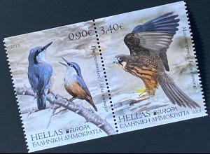 Griechenland Greece 2019 Nr. 3050-51 Europaausgabe Einheimische Vögel Birds MH