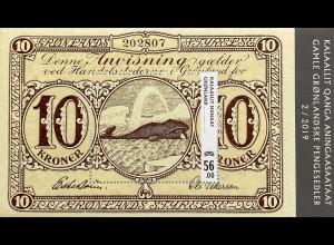 Grönland 2019 Neuheit Banknoten Kronenscheine mit Eisbär und Walfisch Block