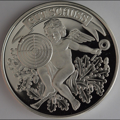 Schützenmedaille in Silber 32 mm reines Silber Feingehalt 999/1000