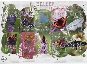 Niederlande 2019 Nr. 3824-33 Schmetterlinge Insekten Fauna Nachtpfauenauge
