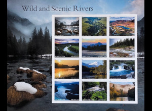 USA Amerika 2019 Nr. 5592-5603 Flüsse Wild and Scenic Rivers Natur Tourismus