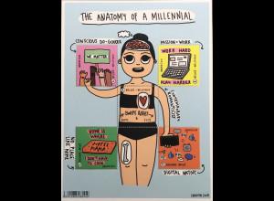 Belgien 2019 Block 241 Anatomy of a Millennial Menschen Geburtsdatum 1980-1990