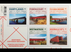 Kanada Canada 2019 Block 289 Historische Brücken Bridges Hartland Powerscout