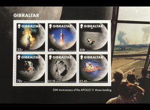 Gibraltar 2019 Block 139 50 Jahre Mondlandung Apollo 11 Neill Armstrong