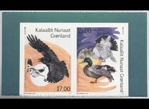 Grönland 2019 Neuheit Einheimische Vogelarten Europaausgabe Stockente aus MH