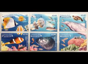 Hongkong 2019 Neuheit Underwater World Unterwasserwelt Clownfisch Qualle Delfin
