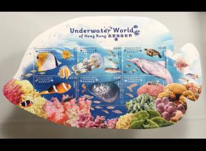 Hongkong 2019 Neuheit Underwater World Unterwasserwelt Clownfisch Fischform