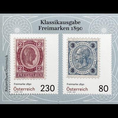 Österreich 2019 Block 109 Klassische Briefmarken Freimarken von 1890