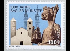 Schweiz 2019 Neuheit 1000 Jahre Basler Münster Weihe Sakralbau Heinrichs Münster