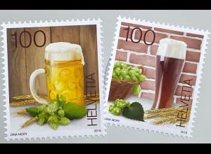 Schweiz 2019 Neuheit Bierbraukunst Tradition Brauchtum Dunkles Weißbier Helles