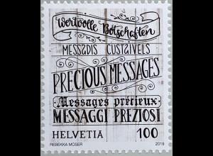 Schweiz 2019 Neuheit Handlettering Kalligraphie Kunst der schönen Schrift