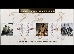 Liechtenstein 2019 Block 34 500 Jahre erste Weltumsegelung Ferdinand Magellan