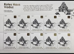 Liechtenstein 2019 Neuheit Alte Wohngebäude Sepac Rotes Haus Egon Rheinberger