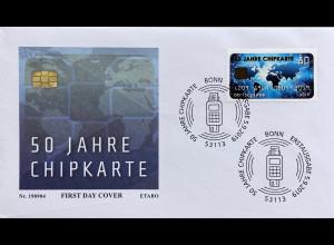 Bund BRD Ersttagsbrief FDC 5. September 2019 Nr. 3494 50 Jahre Chipkarte