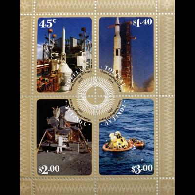 Tokelau Inseln 2019 Block 75 Erste Mondlandung 1969 Neill ArmstrongSpace Shuttle
