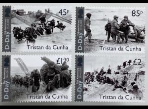 Tristan da Cunha 2019 Nr 1322-25 75 Jahre D-Day Landung der Alliierten Normandie
