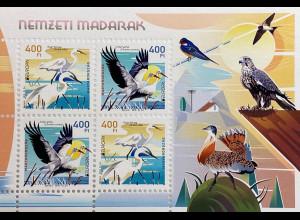 Ungarn Hungary 2019 Block 424 Europaausgabe Vögel Einheimische Vogelarten