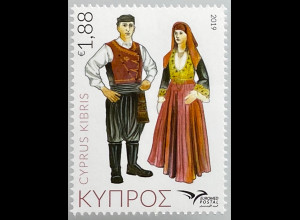 Zypern griechisch Cyprus 2019 Nr. 1416 Euromed Postal Trachten Mittelmeerraumes