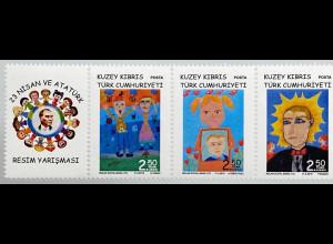 Zypern türkisch Cyprus Turkish 2019 Neuheit Kinderzeichnung für Atatürk