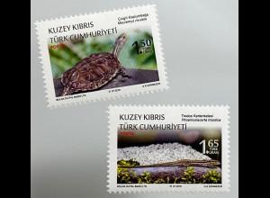 Zypern türkisch Cyprus Turkish 2018 Nr. 854-55 Fauna Reptilien Schildkröte