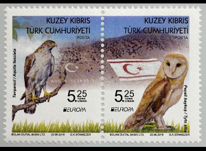 Zypern türkisch Cyprus Turkish 2019 Neuheit Europaausgabe Einheimische Vögel