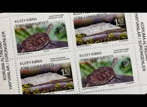 Zypern türkisch Cyprus Turkish 2018 Block 35 Fauna Reptilien Schildkröte